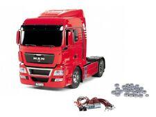 Tamiya MAN TGX 18.540 4x2 XlX-Red Edition + LED y rodamientos de bolas - 56332 ledku
