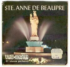 vintage SAWYERS View Master STE. ANNE DE BEAUPRE A059 Saint Canada Quebec statue