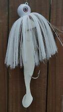 Mojo Trolling Striper Rockfish Nylon 2-10/0 Mustad Hook Shad Lure - White