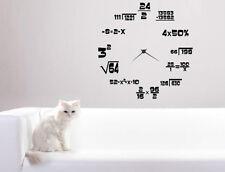 Maths Geeks Clock Background. Wall Stickers Decal Decor Best Quality 60cm x 60cm
