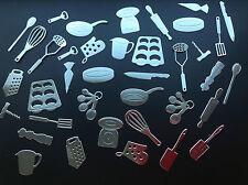 Kitchen Utensil DIE CUT Set - 38 pezzi in colori assortiti; Card Making ETC