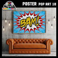 POSTER POP ART roy lichtenstein BAM BOOM CARTA FOTOGRAFICA 50x35 70x50 100x70