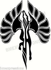 Pontiac Fiero Pegasus Outline Hood Decal LARGE Vinyl Decal Your Color Sticker