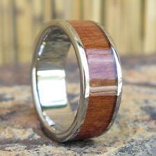 Hawaii Hawaiian Jewelry Wood Titanium Wedding Ring Band 8mm #TRD-1001-08
