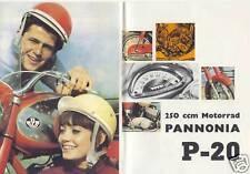 %% PANNONIA P 20 250CCM UNGARN MOTORRAD PROSPEKT