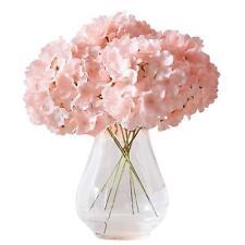 10pcs Artificial Hydrangea Flowers Blush Silk Flowers DIY Wedding Floral Decor