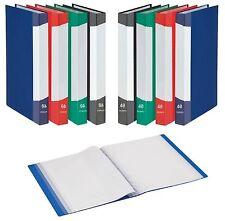 5 stück Dokumenten Mappe A4 mit 40 Hüllen Sichtbuch Dokumentenmappen Sammelmappe