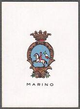 ROMA MARINO 04 STEMMA ARALDICA FIGURINA BRIOSCHI anni '20 - SERIE 3.ᴬ - n.° 90