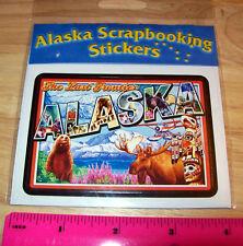 Alaska Scrapbook sticker decal The last Frontier wildlife, Denali, Moose