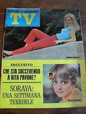 """"""" TV SORRISI E CANZONI """"DANIELI-PAVONE N°29 LUGLIO 1968"""