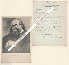 Lettre Autographe Signée d'Edouard DRUMONT à Paul Déroulède Libre Parole