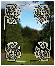 4 Celtic Corner Window Clings
