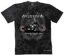 T shirt Batik black vintage HD Biker Chopper & oldschoolmotiv Modèle Bobber