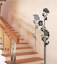Black Flower Pattern Home Paper Wall Sticker Location: USA
