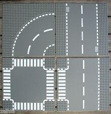 JEU JOUET ENFANT LEGO : Plaque Plate Route Carrefour Virage Modèles au Choix !!