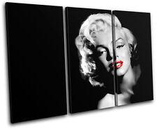 Marilyn Monroe Iconic Celebrities TREBLE CANVAS WALL ART Picture Print VA