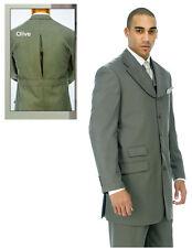 Men's  5 Buttons Jacket, Back Center Split, Double Vents With Collared Vest 2908