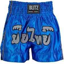 Blitz Muay Thai Fight Shorts Blue Mens Mma Martial Arts Boxing Short Bottoms