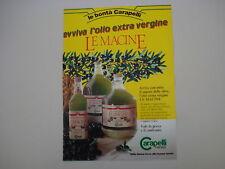 advertising Pubblicità 1986 OLIO LE MACINE CARAPELLI