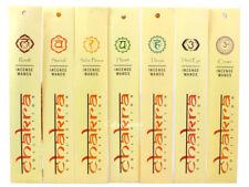 Chakra Natural Incense Sticks Wands 10g: Root, Sacral, Solar, Third Eye, Crown.