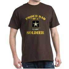 CafePress Proud U.S. Army Dad Dark T Shirt 100% Cotton T-Shirt (1394937109)
