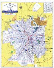 Old City Map - San Antonio Texas - Ashburn 1950 - 23 x 28.71