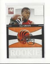 2011 Donruss Elite Rookie NFL Team Logo #1 A.J. Green Bengals /999