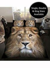 3D Lion Housse de couette & Housse d'oreiller ensembles disponible en simple,