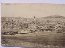 9482 AK Pribram Celkovy pohled Böhmen Ort Brücke 1913