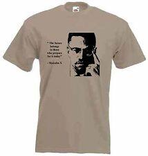 Malcolm X T-Shirt-Black Panther Party Hip Hop politique-Choix de Couleurs