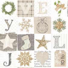 20 x Serviette 40 x 40 cm Tissue Servietten Advent Weihnachten 33961