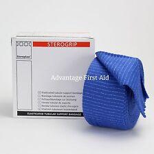 Elasticated Tubular Support & Compression Bandage. Blue Catering / Kitchen Use.