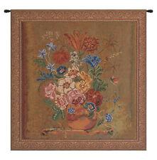 Verendael Terracotta Belgian Woven Floral Tapestry Wall Hanging Home Decor Art