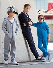 Kinder Jumpsuit Overall Jogger Anzug Mädchen Jungen Baumwollmischung 104 - 164
