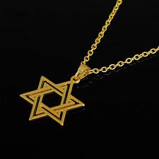 Unisex Star of David Pendant Necklace - Judaism Hexagram - Seal of Solomon