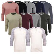 Mens Cotton Rich Brave Soul Long Sleeve Top T-shirt