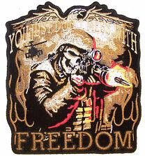FREEDOM HUNTER EMBRODIERED PATCH JBP43 biker machine GUN iron on military item