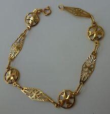 9ct 9k 375 Yellow Gold Maltese Cross Bracelet FACTORY PRICE