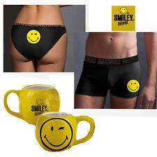 TAZZA SMILE+slip o boxer tutte le taglie uomo/donna originale idea regalo+scatol