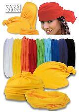 Fascia multifunzionale bandana foulard cappellino in tessuto elastico 9 colori