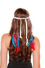 sexy ROMA indian NATIVE american POCOHONTAS feather BEADED headband ACCESSORY