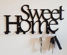Key Holder Hanger Hooks Towel Rack Kitchen Home Wall Organizer Black White