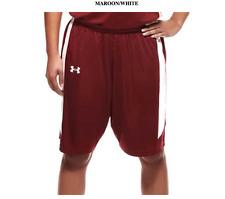 Under Armour Womens  Next Level Basketball Shorts  Maroon / White