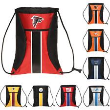 NFL Football Big Stripe Zipper Drawstring Backpack - Pick Team