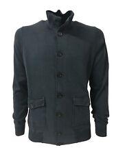 ALPHA STUDIO bomber uomo blu felpa garzata+maglia mod AU-5021ES 100% cotone slim