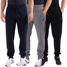 Slazenger Mens Plain Joggers Jog Pants Zip Pockets Drawstring Waistband