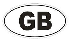 GB Great Britain Oval Bumper Sticker or Helmet Sticker D884 Mini Cooper British