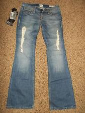 $127.00 NWT Jimmy Taverniti Jamie Women's Denim Jeans Boot Cut Distressed sku1