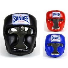 Sandee tête Protège fermé visage adulte enfants Muay Thai boxe MMA Noir Bleu