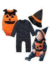 Bilo Baby Girl Boy Halloween Pumpkin Costume Pumpkin Vest, Romper and Hat 3-Piec